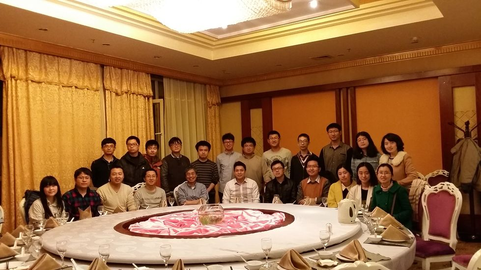 Have dinner with Jiali Gao Group, Spring, 2015